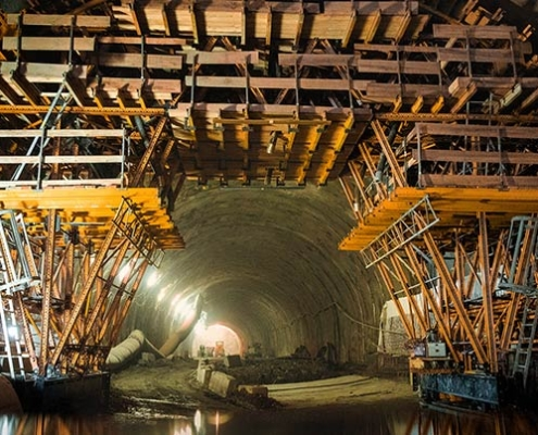 Poland's longest road tunnel with ULMA's MK Formwork Carriage