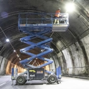 Genie rough terrain scissor lifts assist in completion of Morandi tunnel