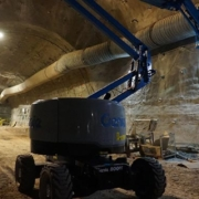 Genie Z-45 XC™ boom lift goes 1,000 M (3,280 ft) underground
