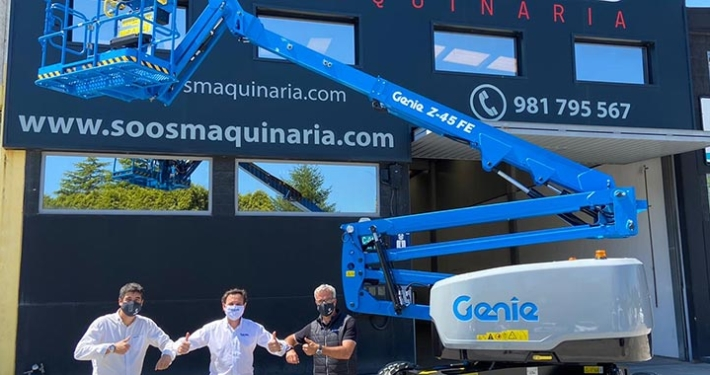 Spain's first 16 M GENIE® Z-45 FE boom lift for Soos Maquinaria