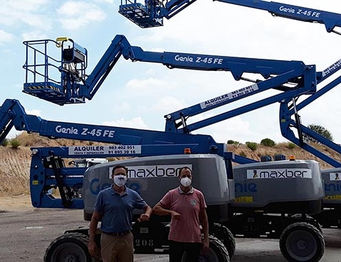 MAXBER receives delivery of four hybrid Genie® Z®-FE boom lifts