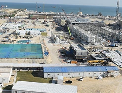 Construction Al-Khobar 1 SWRO desalination plant at 90%