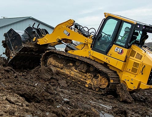 CAT 963 track loader pairs versatility with fuel and productivity
