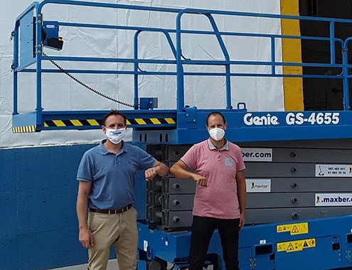 MAXBER receives Spain's first two Genie GS-4655 scissor lifts