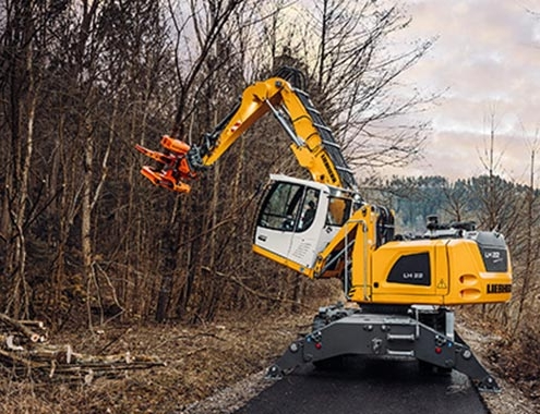Ttree care and timber industry: New Liebherr equipment combinations
