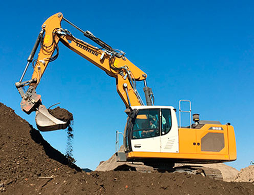 Generation 8 crawler excavators for various applications