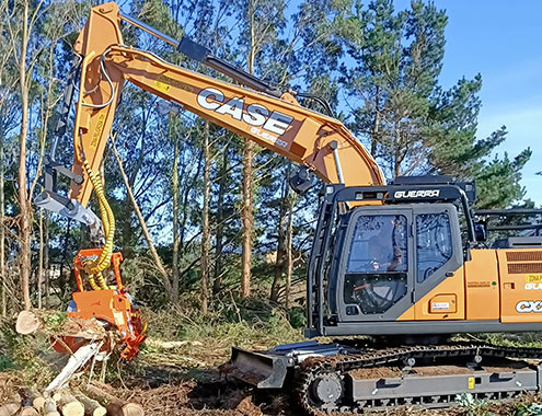 CASE crawler excavators at work throughout Europe
