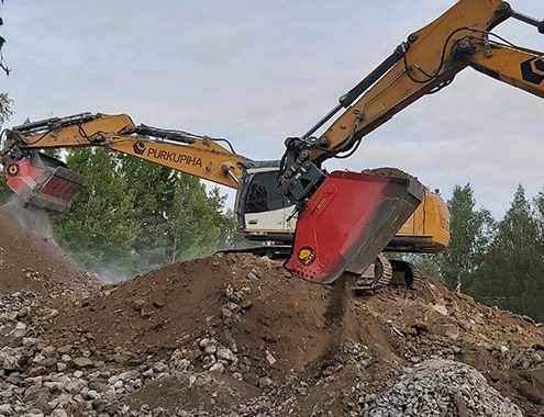 ALLU Group Screener and Crusher changes the way for demolition.