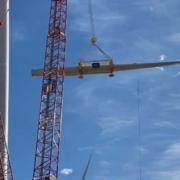 Four Manitowoc crawler cranes at wind farm in Texas