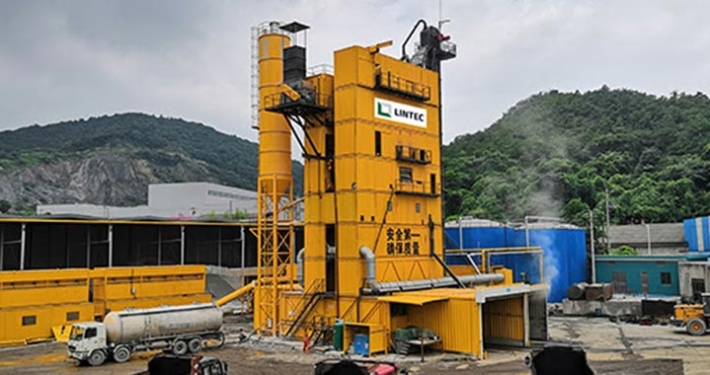 Lintec asphalt plant keeps essential projects on track in Ningbo, China