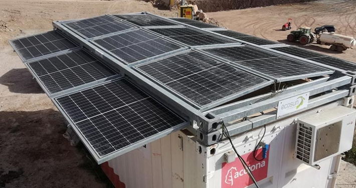 ACCIONA implements photovoltaic generators on the A-27 highway works