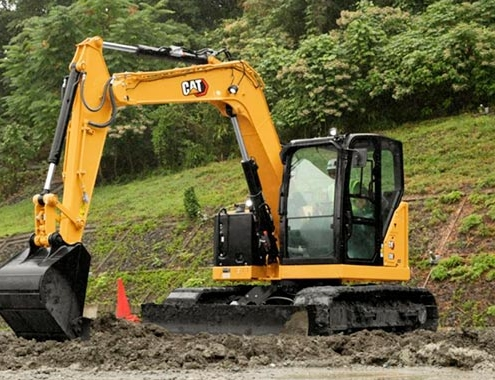 The new 8-tonne Cat® 308 CR Fixed Boom mini excavator