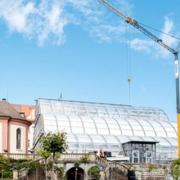 Liebherr fast-erecting crane on the island of Mainau