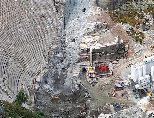SBM LINEMIX plants produce dam wall concrete under extreme conditions