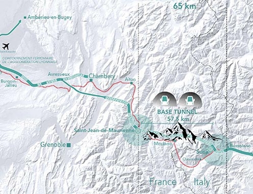 LYON-TURIN LINE: €3 BILLION WORTH OF WORK FOR THE BASE TUNNEL