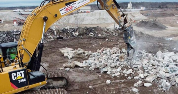 Six New Cat Primary and Secondary Pulverizers, Concrete Demolition