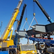 Genie® Booms Lifts in the construction of The Mohembo Bridge, Botswana