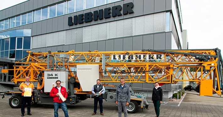 Liebherr sells its 2000th 34 K fast-erecting crane to Mathis Bau AG