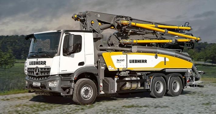 New 36 XXT truck mounted concrete pump from Liebherr